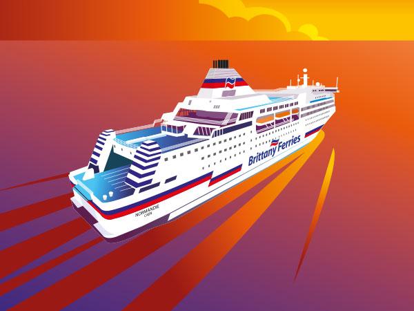 Brittany Ferries Illustration.
